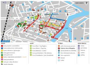 Mapa Jarmark Dominikański Atrakcje Gdańsk AgaTomDom Noclegi Tanio